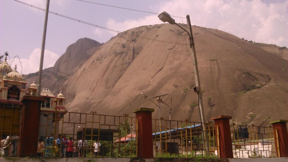 the monolithic hill at savan durga - savandurga hills